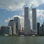 World trade center new york city from hudson august 26 2000