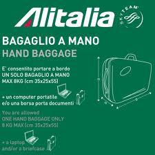 Quali sono misure bagaglio a mano Alitalia