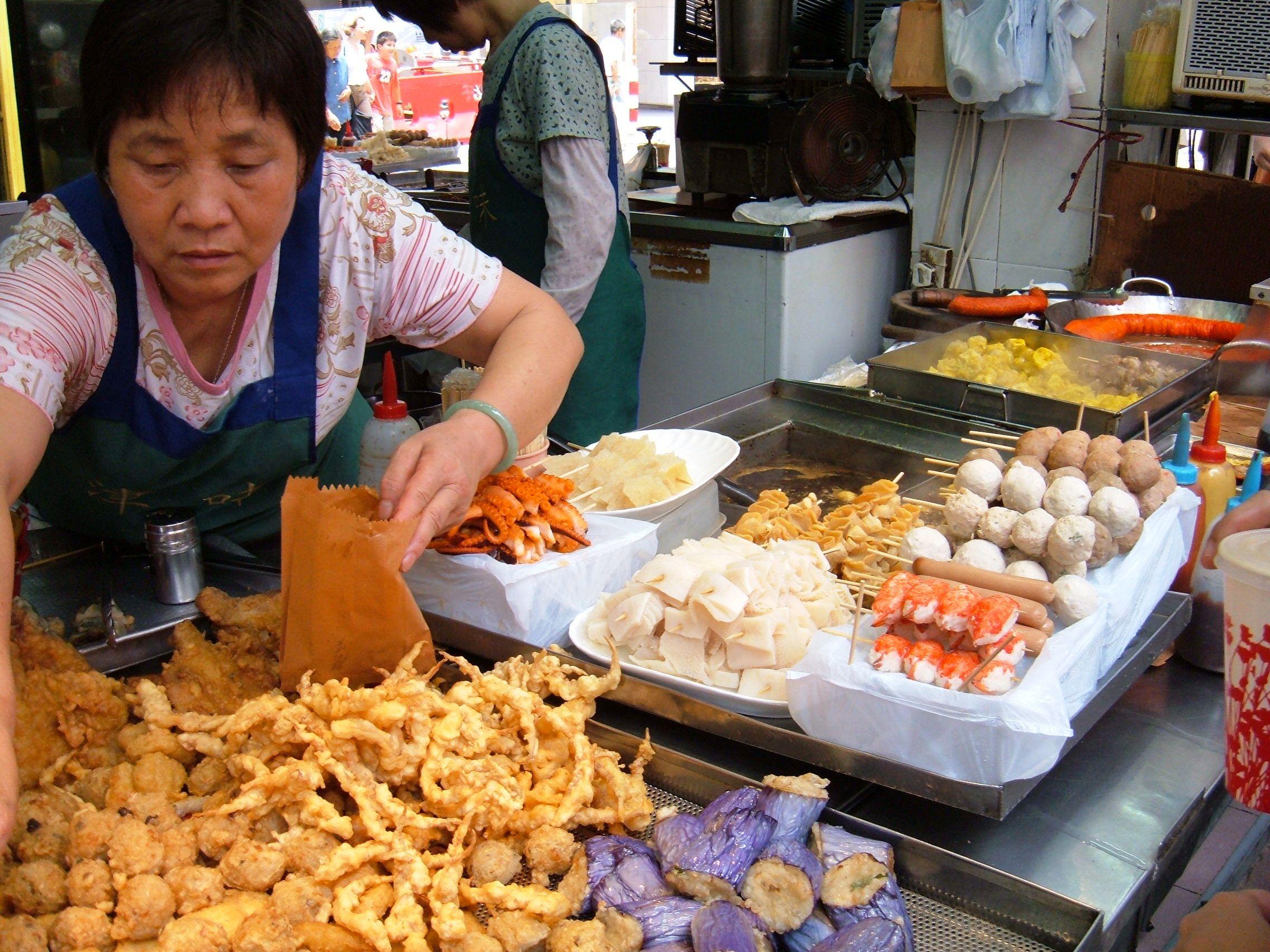 Street food in Causeway Bay