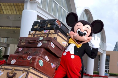 wdw mickey luggage