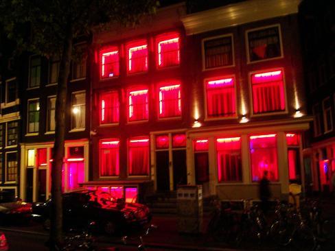 Mappa del quartiere a luci rosse di Amsterdam