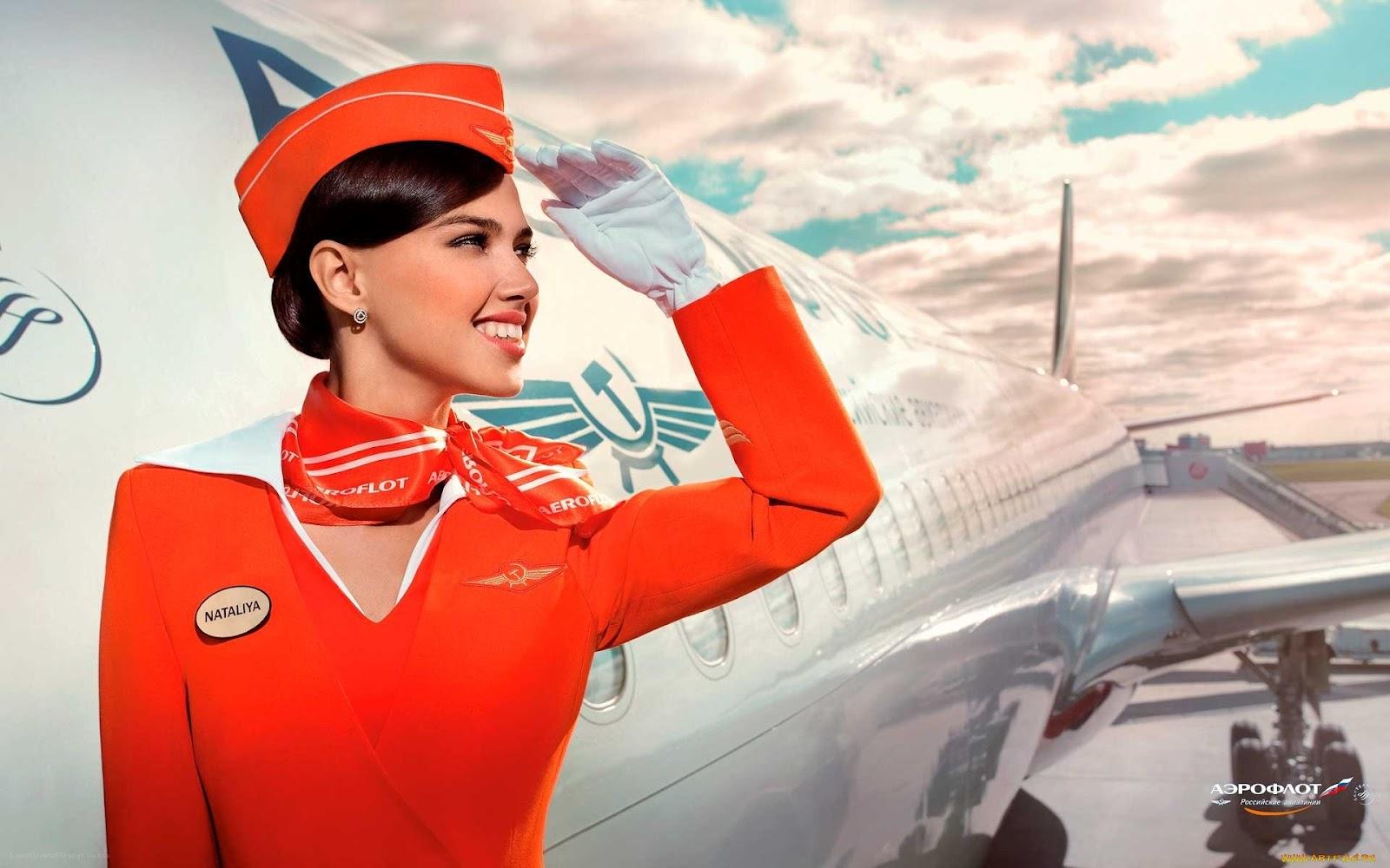 Aeroflot Air Hostess wallpaper 5