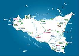 Mappa dei campi da golf in Sicilia