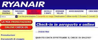 Come fare check in online Ryanair