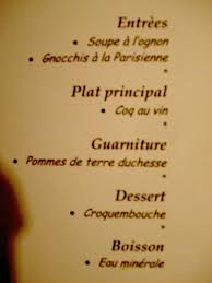 Come leggere un men francese viaggiamo for Menu tipico frances