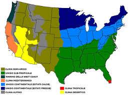 Le regioni dai diversi climi