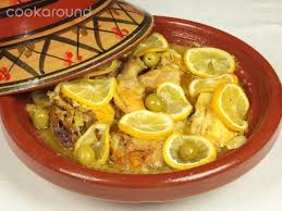 Tagine di limoni preservati e olive