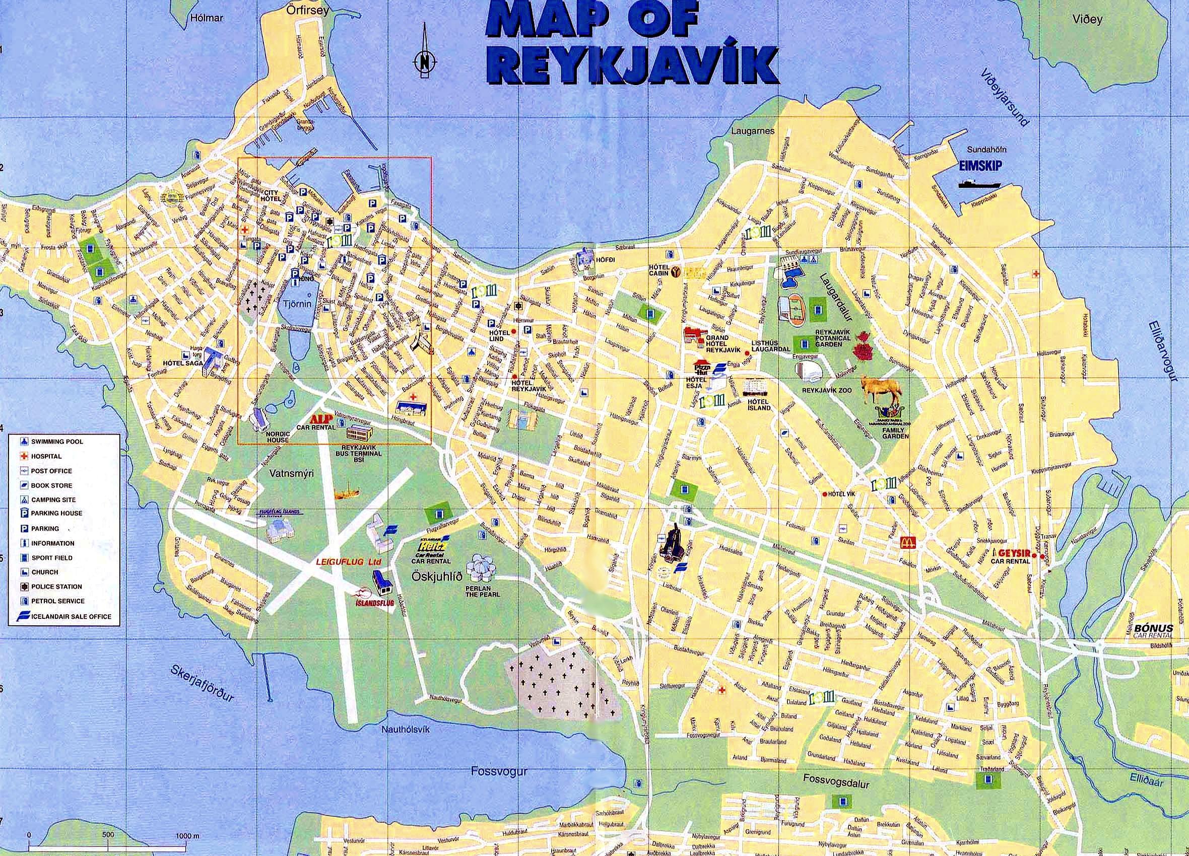 Reykjavik Map