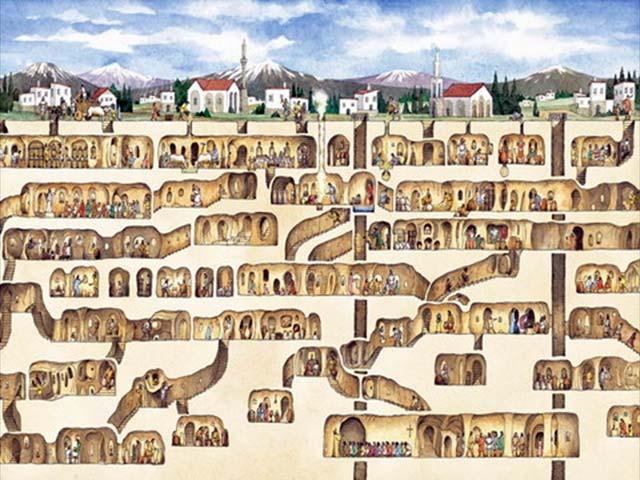 Come visitare Derinkuyu città sotterranea Turchia