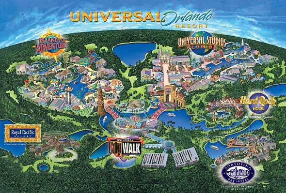 Universal Studios Location Planning Inside Park