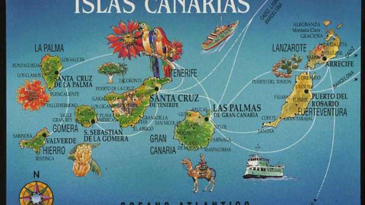 Cartina Canarie Spagna.Mappa Delle Isole Canarie Viaggiamo