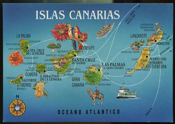 Spagna E Canarie Cartina.Mappa Delle Isole Canarie Viaggiamo