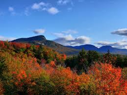 Il foliage di White Mountains di New Hampshire
