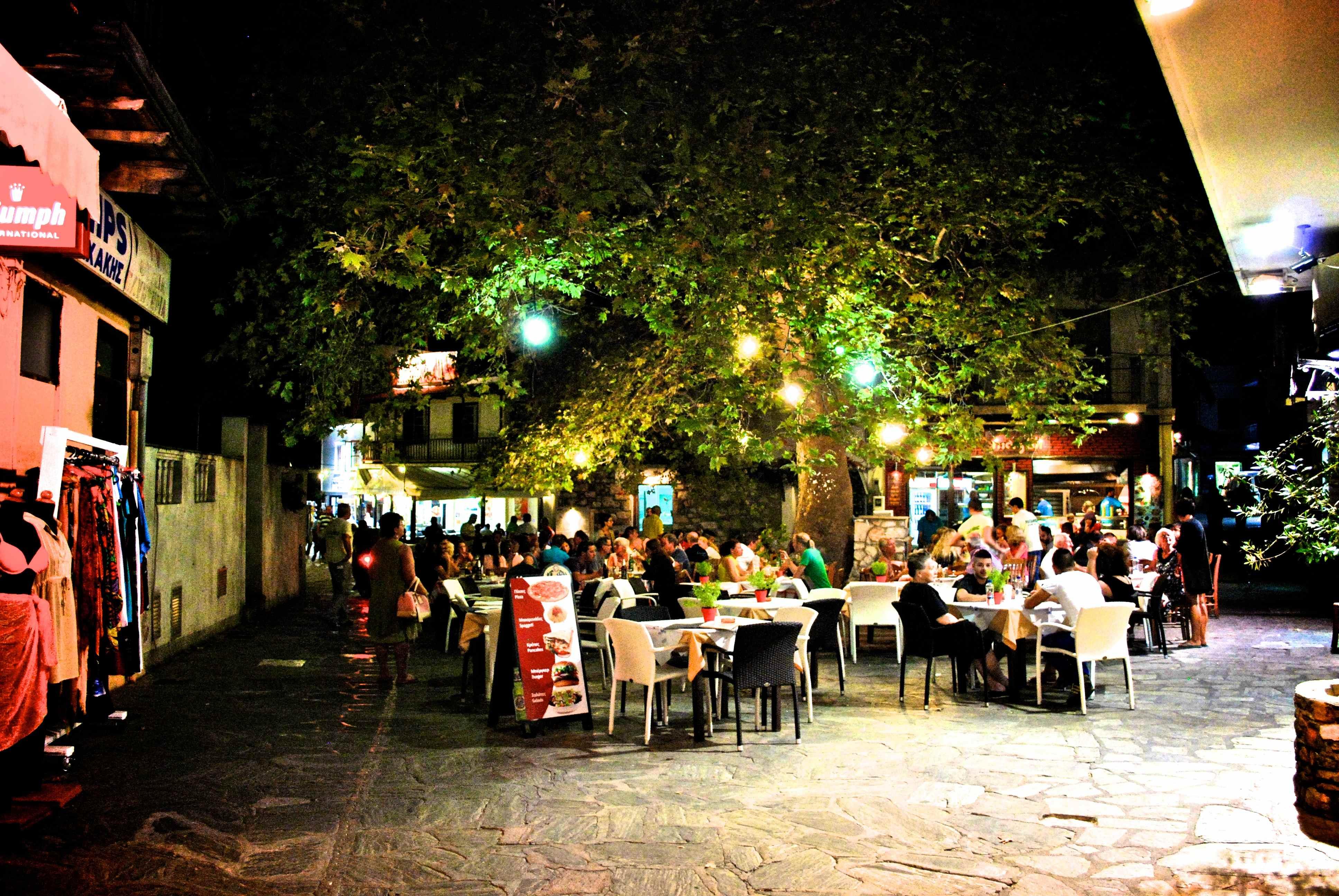 Vita notturna a Skopelos