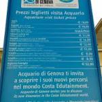 Prezzi dell'Acquario di Genova