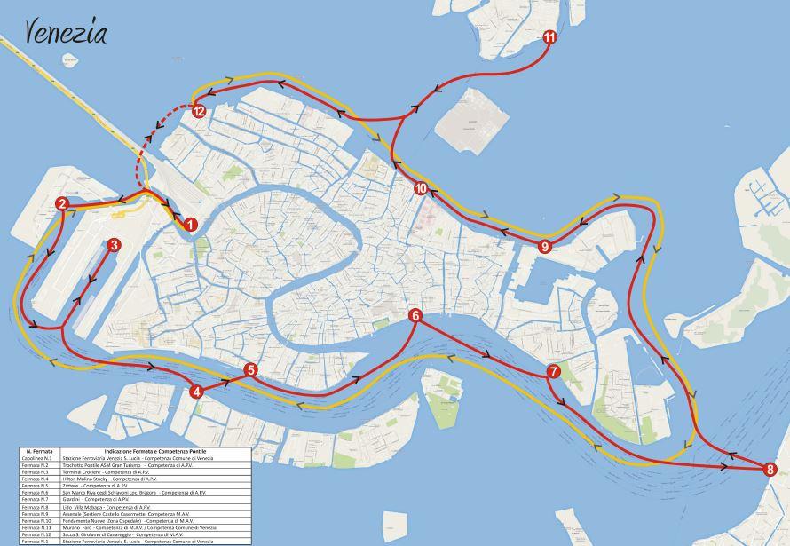Itinerario CitySightseeing Italy a Venezia