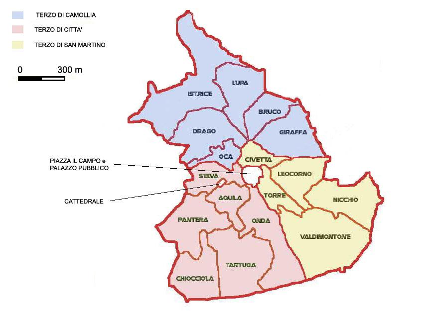 Qual è mappa contrada Civetta Siena