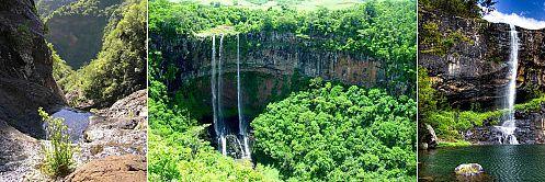 Mauritius Tamarin waterfalls hiking trekking