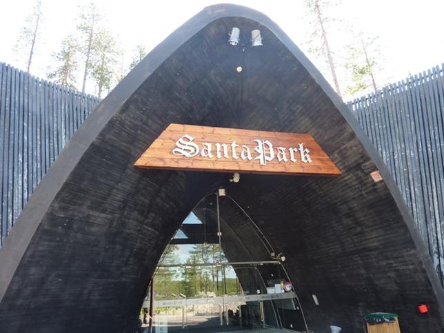 Mappa divertimenti del Santa Park a Rovaniemi
