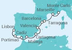 Itinerario crociera Capodanno Francia, Spagna e Portogallo
