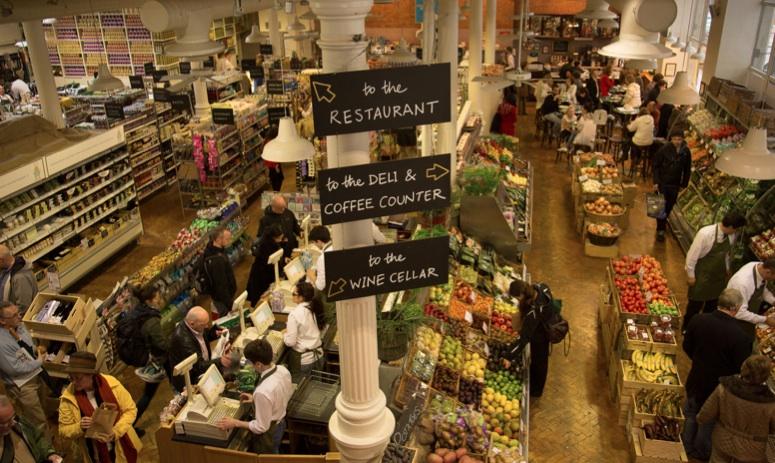 Mangiare a Dublino al mercato coperto Fallon and Byrne