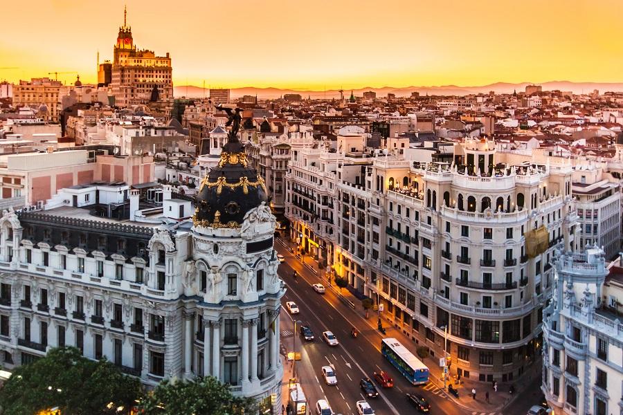Artikelbild Madrid Sonnenuntergang