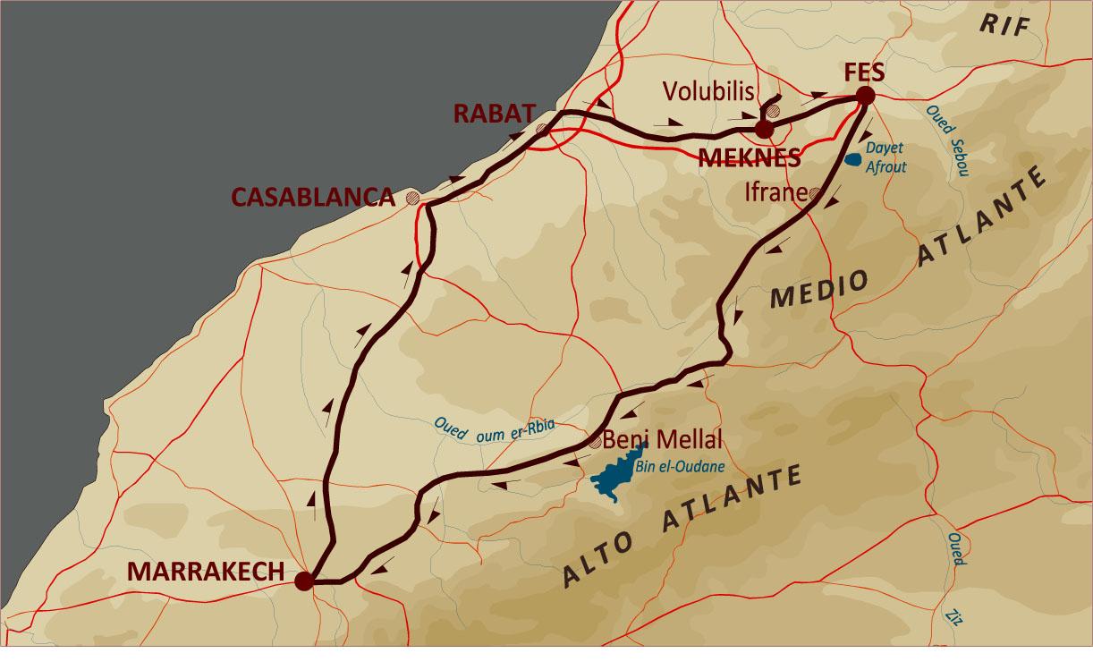 Offerte tour delle città imperiali in Marocco in primavera