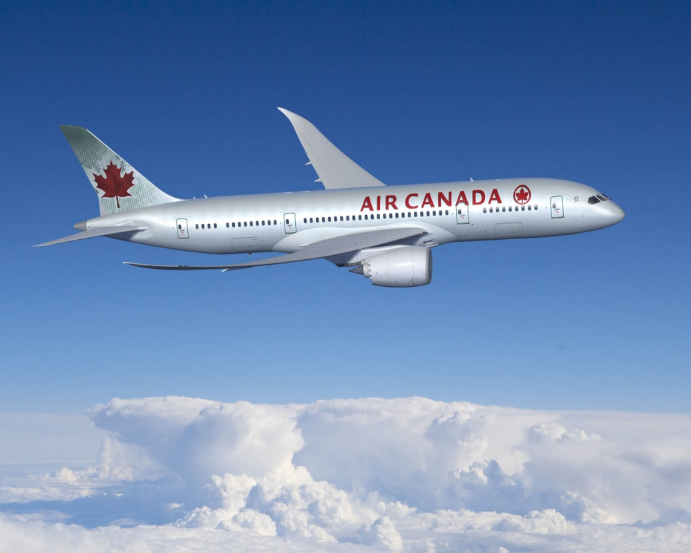 Air Canada 787 inside