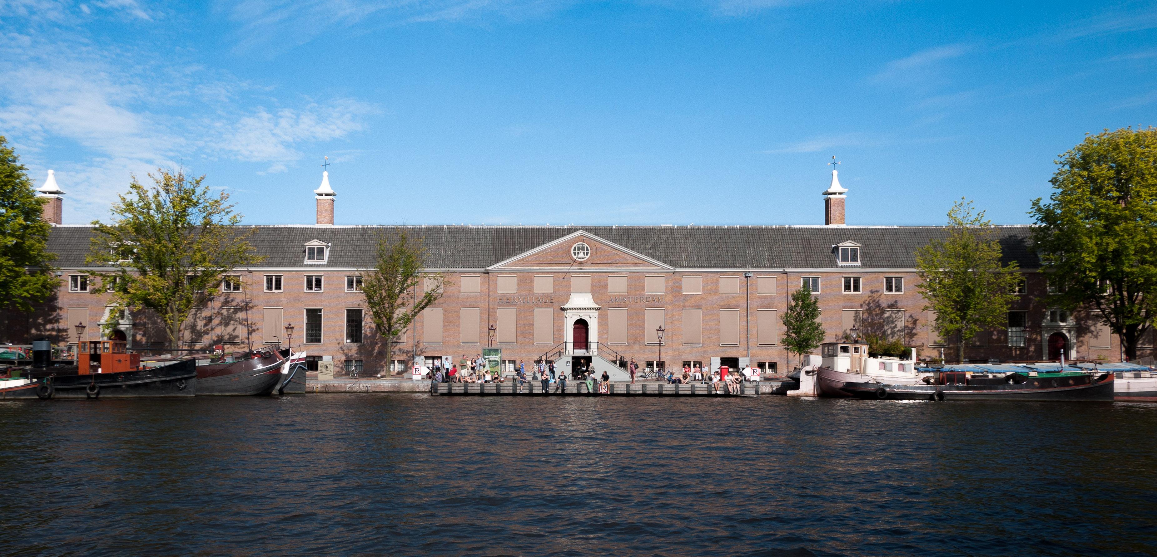 Amstel river façade Hermitage Amsterdam