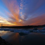 Islanda tramonto laguna