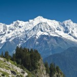 Walk to the Varan hut view of the Mont Blanc range