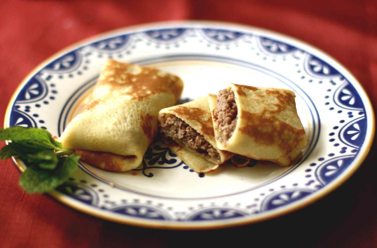 crepes stuffed with meat1