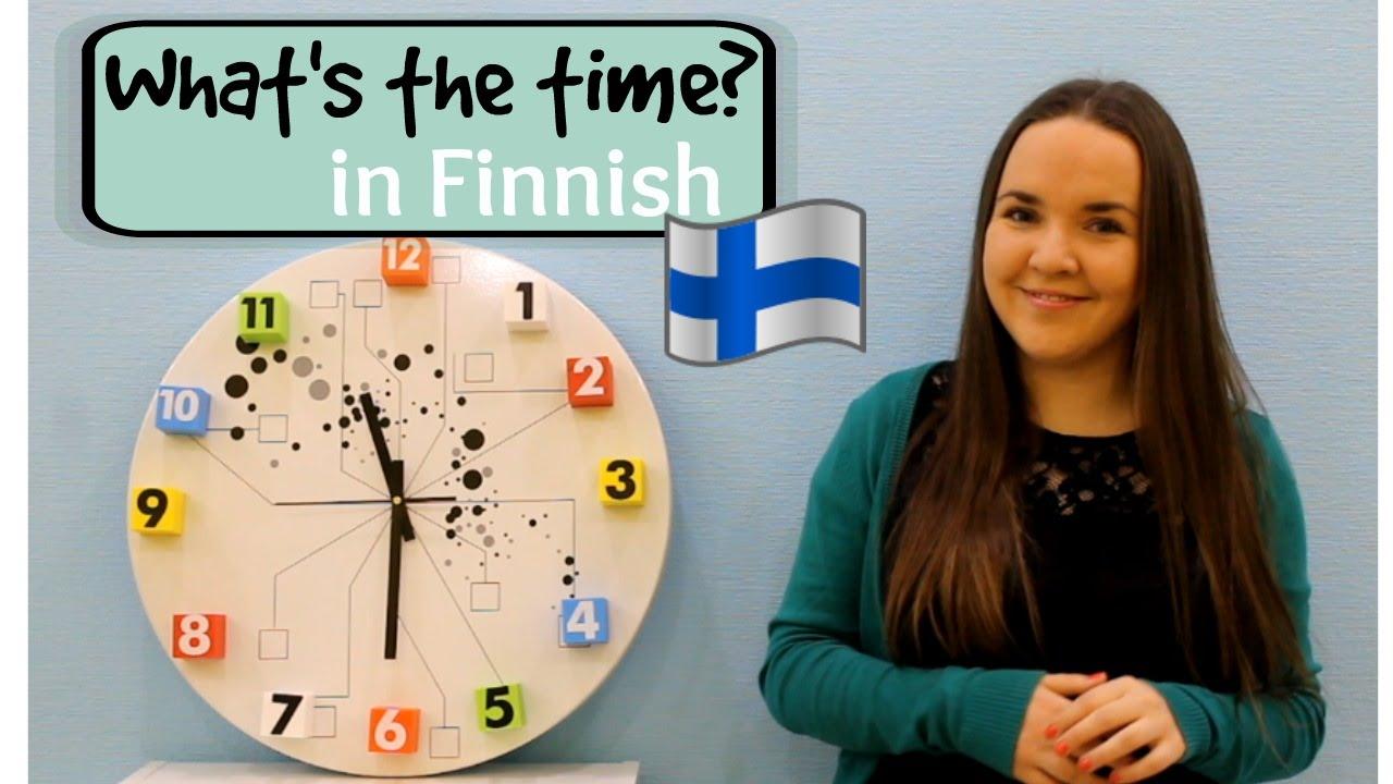 Come si dice che ore sono in Finlandia