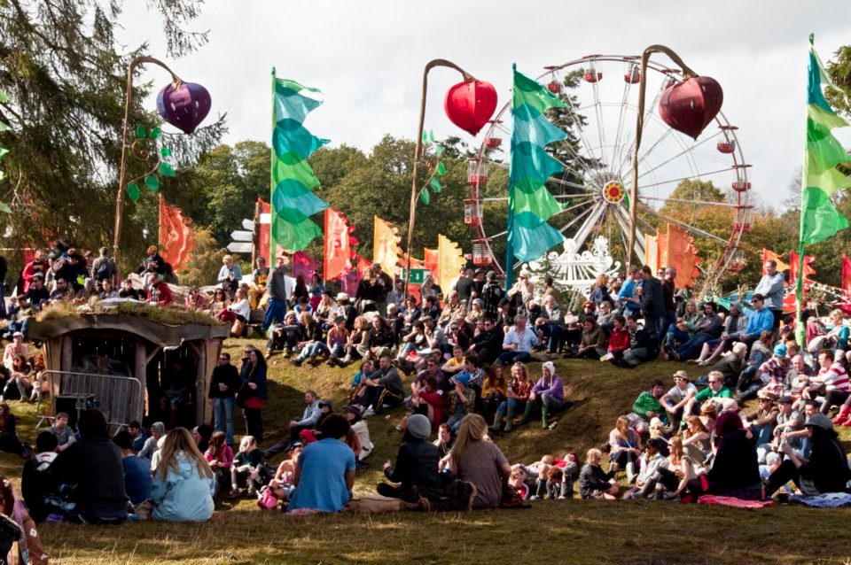Picture showing the crowd at the Body  Soul arena at Electric Picnic 2010