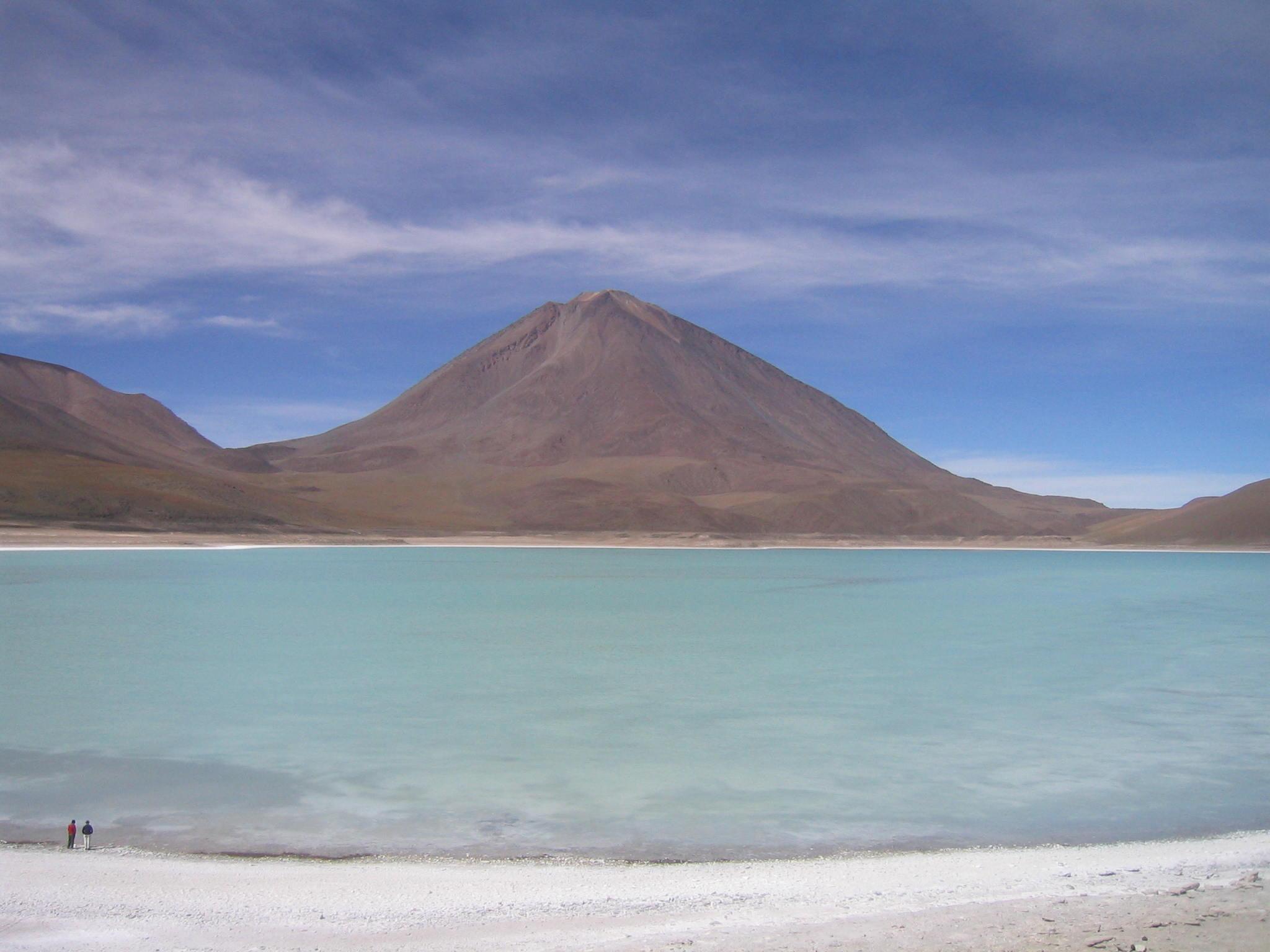Green lagoon Potosí Bolivia