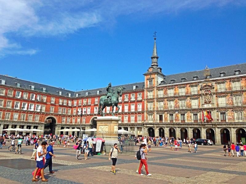 Spagna Madrid Plaza Mayor