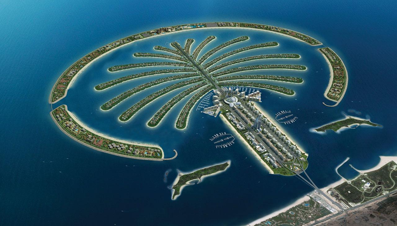 Tempo costruzione Palm Jumeirah a Dubai