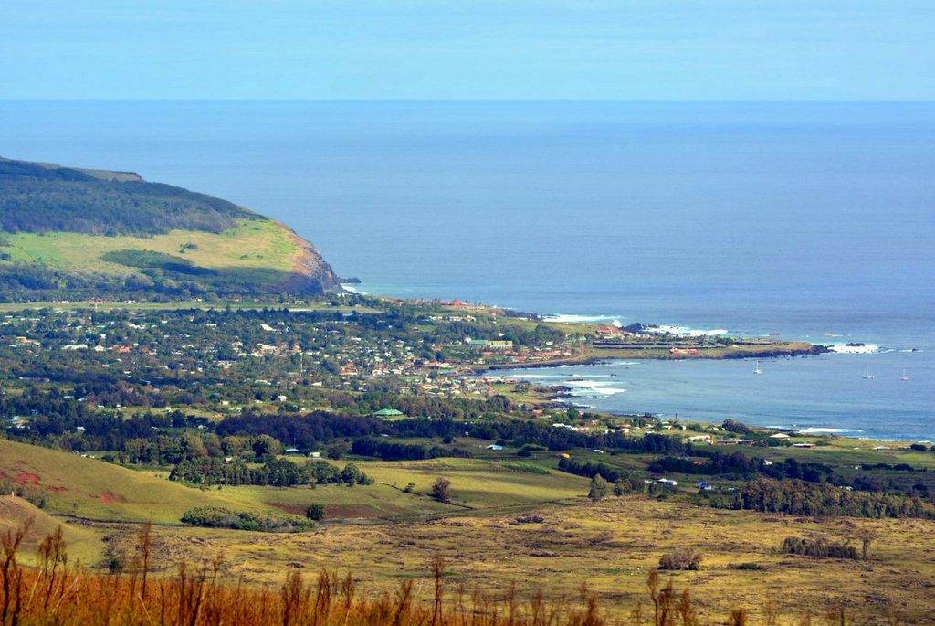 hanga roa vista desde el terevaka