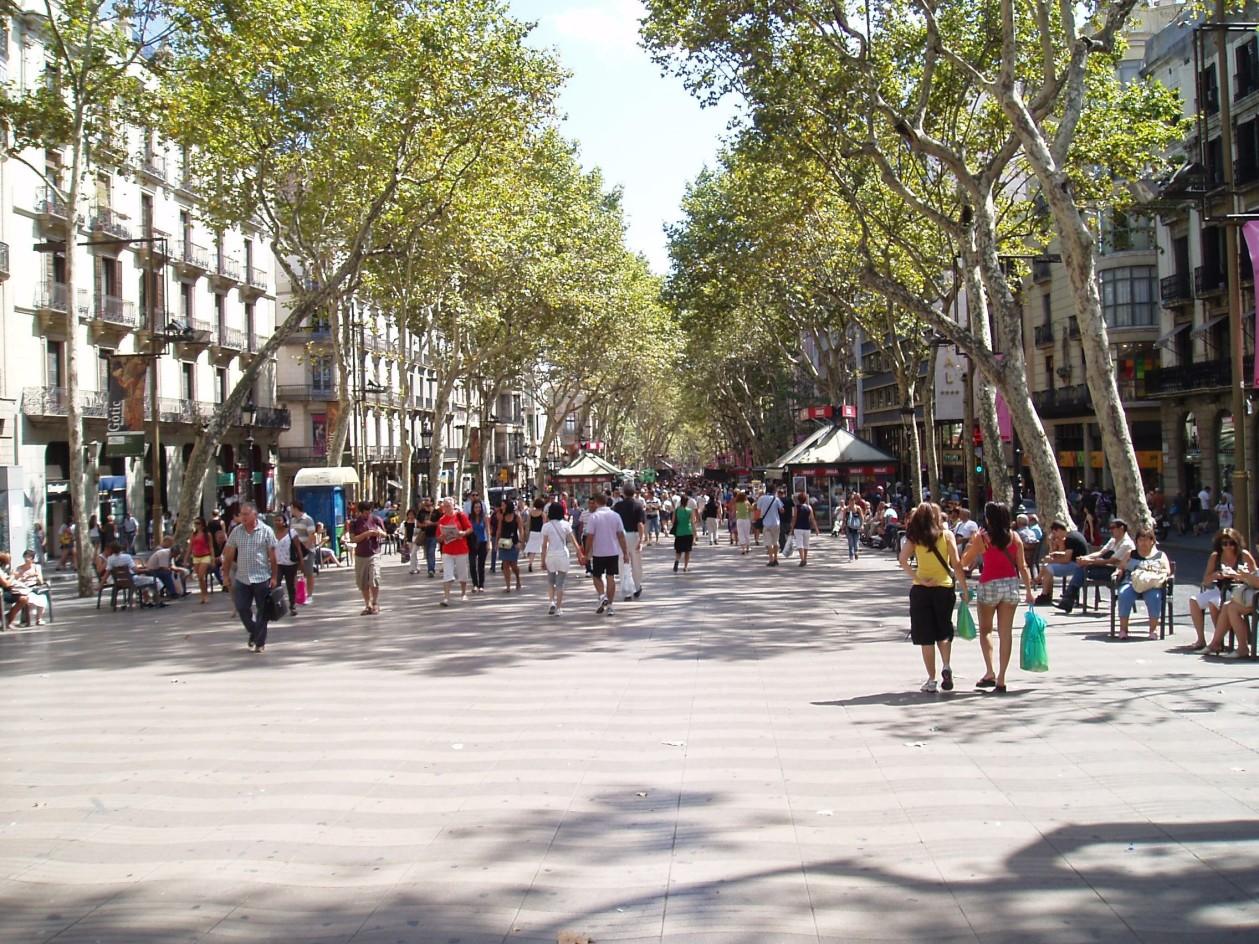 Negozi su las ramblas, Barcellona