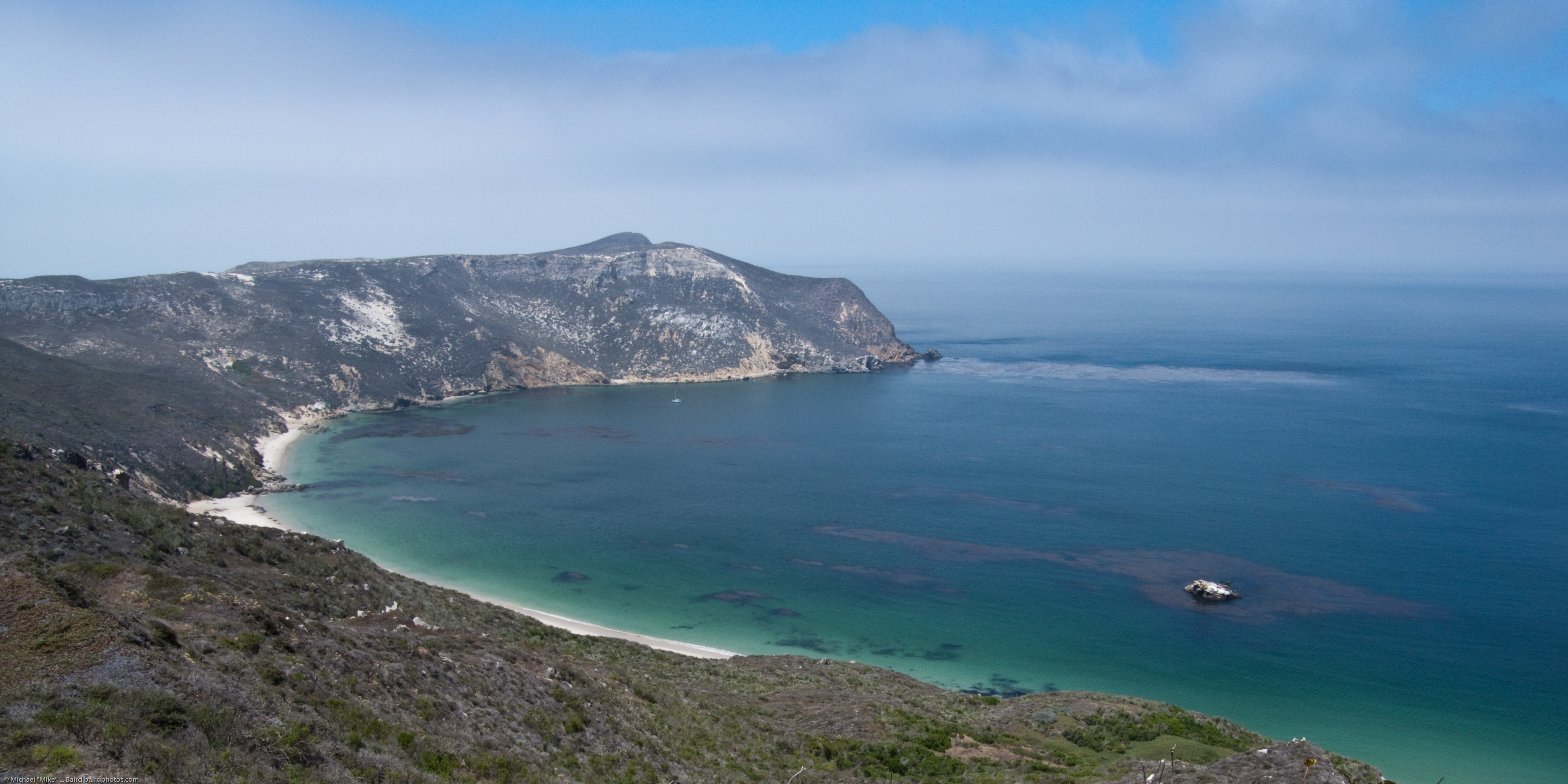 View from San Miguel Island hike. Three Day Kayak and Hiking Tour of the Channel Islands San Miguel Santa Rosa Santa Cruz