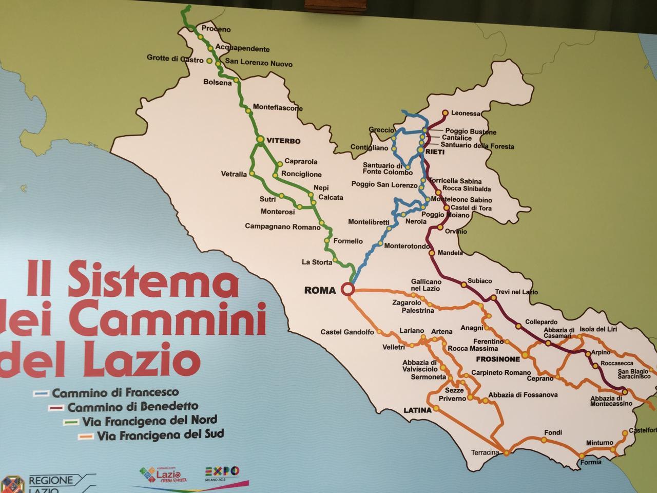cos'è il Sistema dei Cammini del Lazio