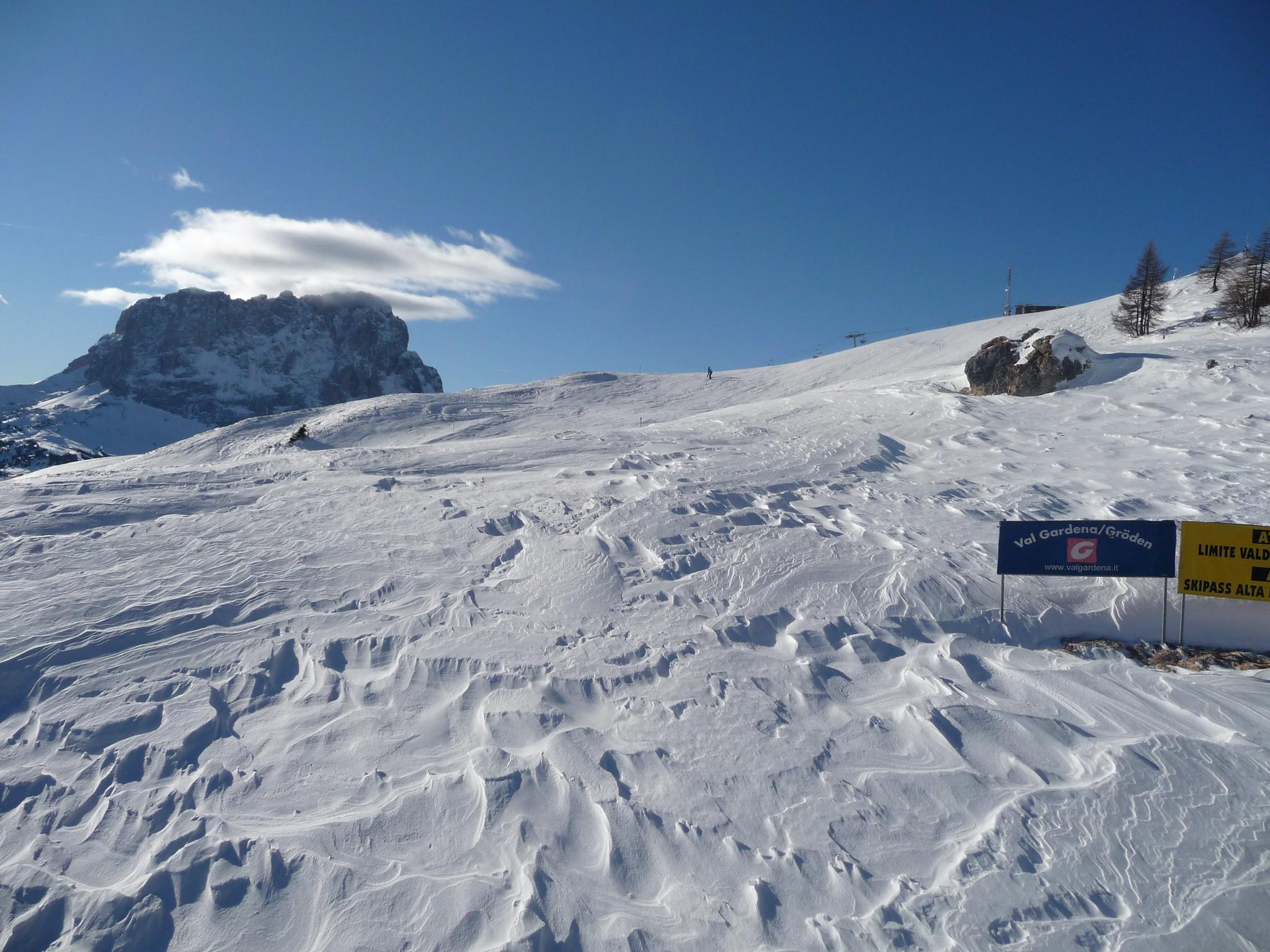 Piste da sci aperte in Val Gardena