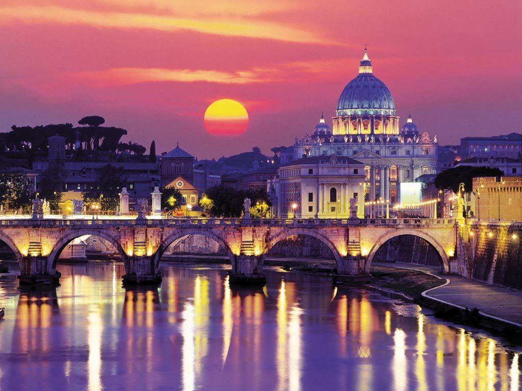 Roma al tramonto Rome information