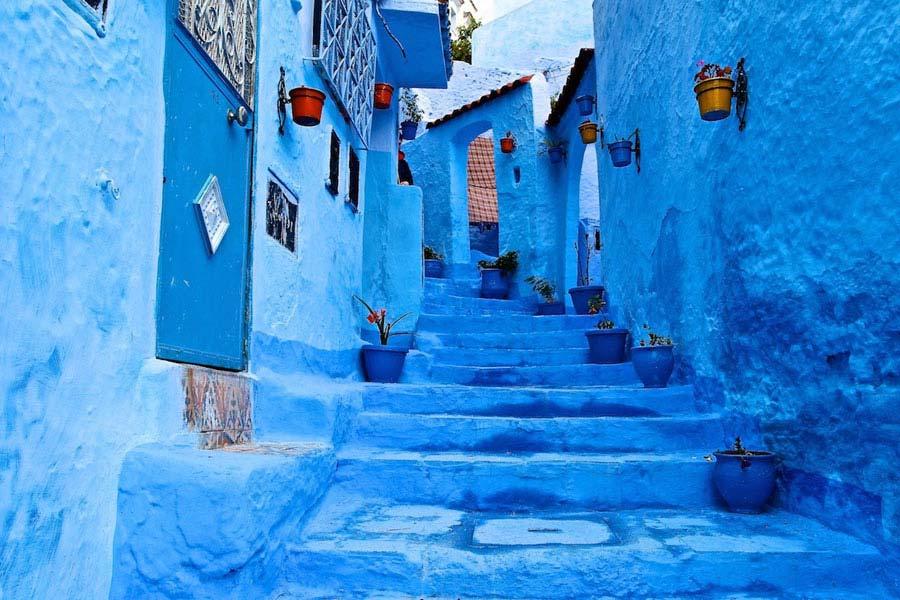 Case Blu Marocco : Caratteristiche chefchaouen la città blu del marocco viaggiamo