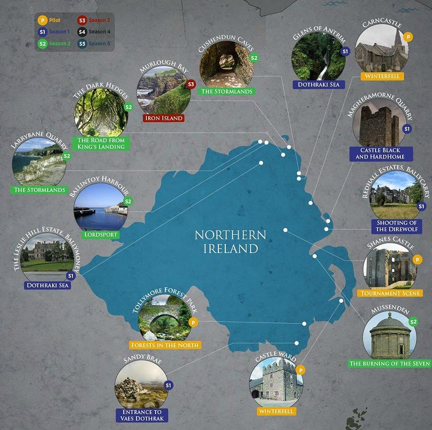 Itinerario Irlande del Nord Il trono di spade