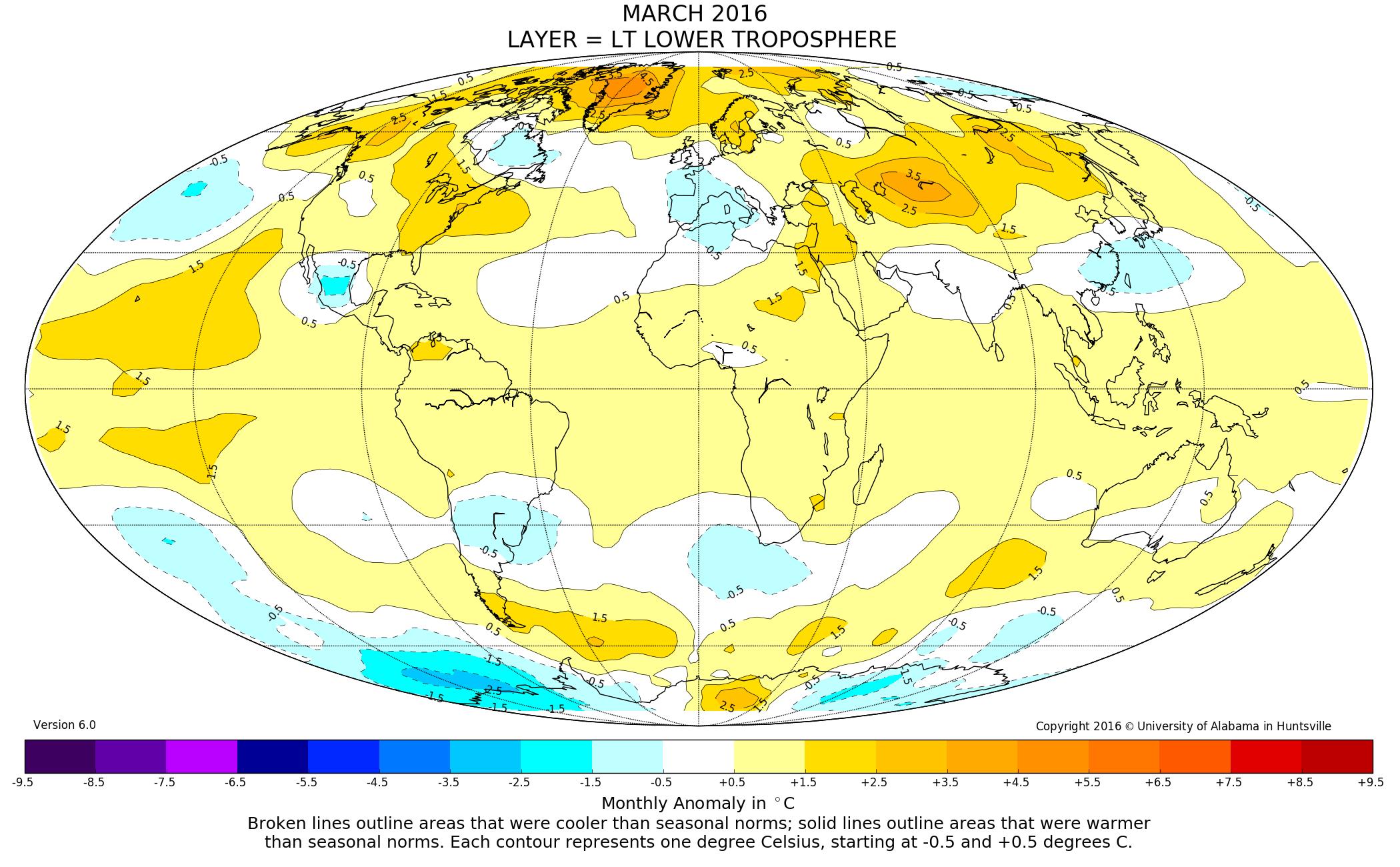 Le temperature del mese di marzo