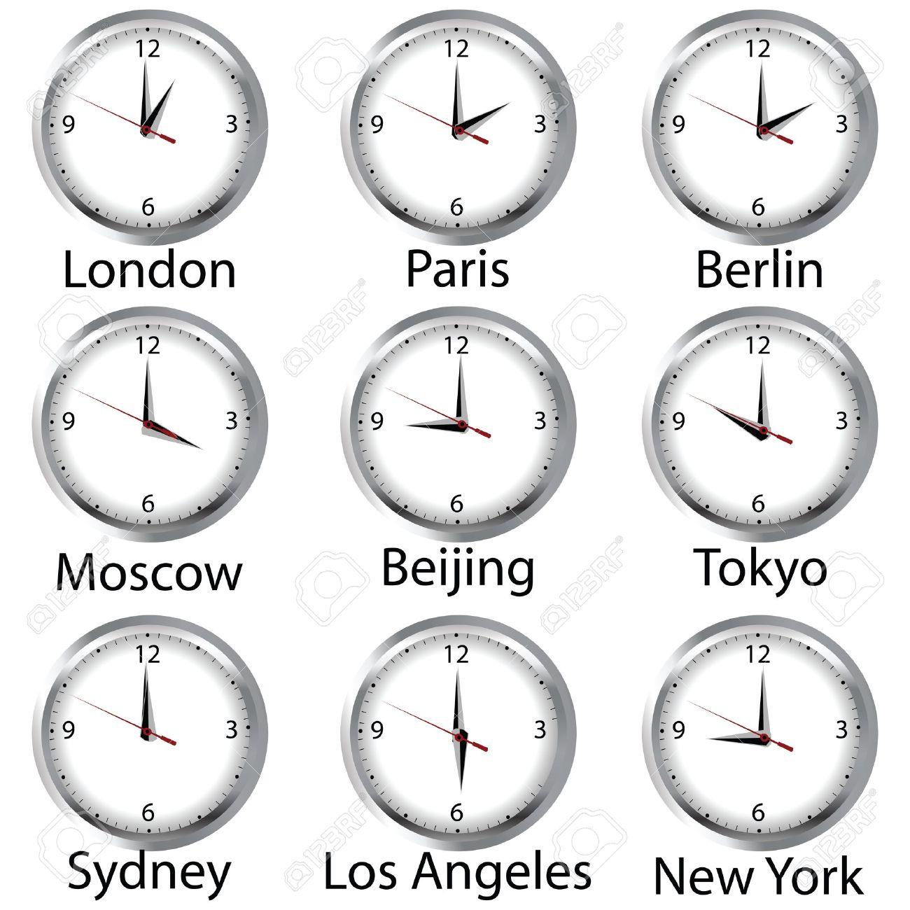 Fusi orari nel mondo rispetto l'Italia