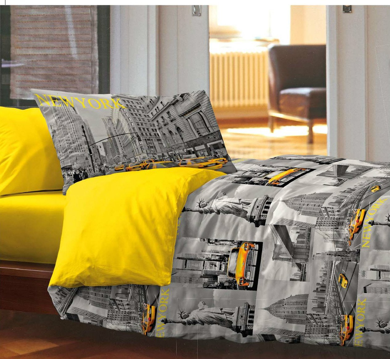 New York a casa propria: copripiumino, lenzuola e quadri - Viaggiamo