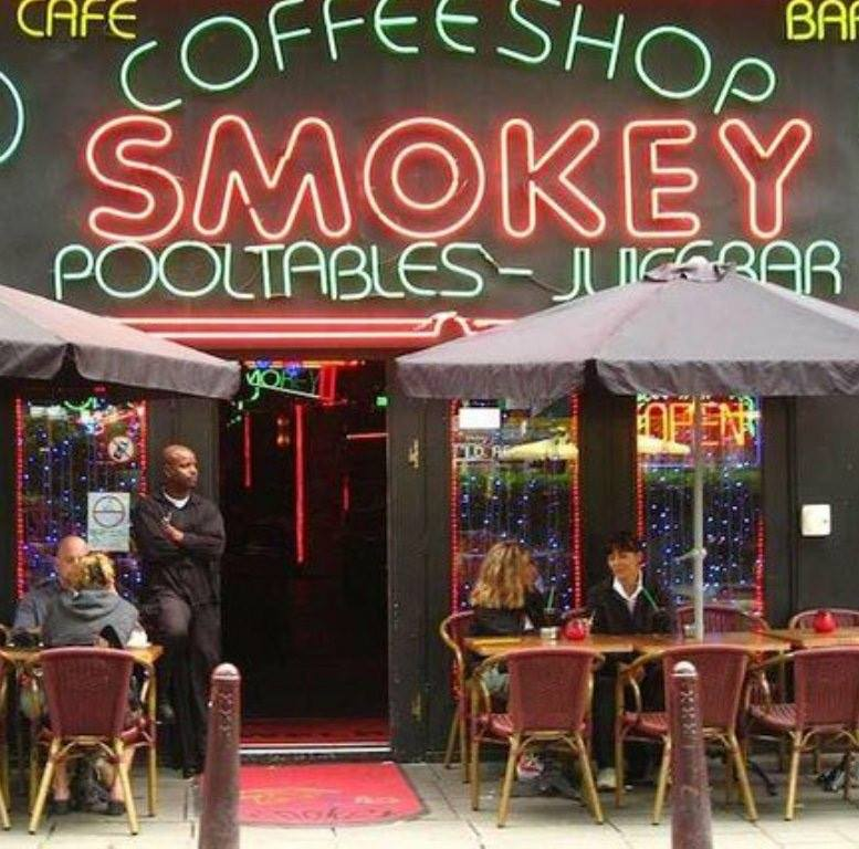smokey coffee shop