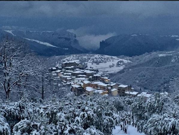 Neve al sud, San Martino D'Agri innevata
